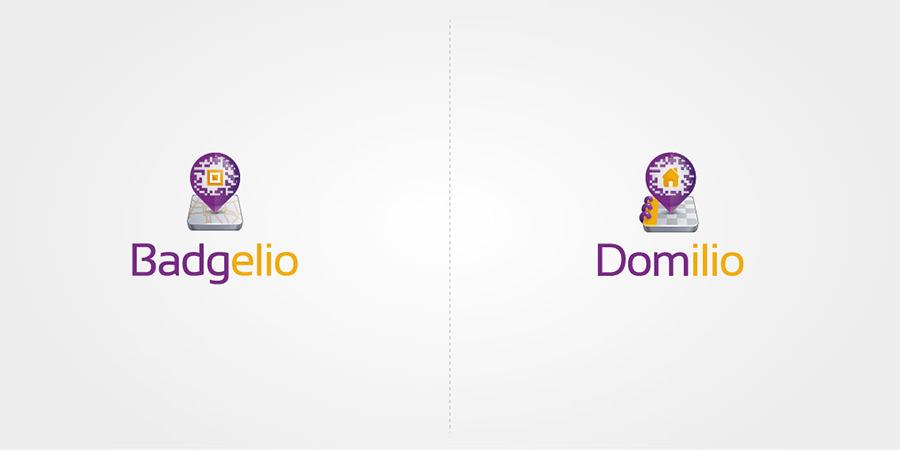 Logomarques Badgelio et Idelio