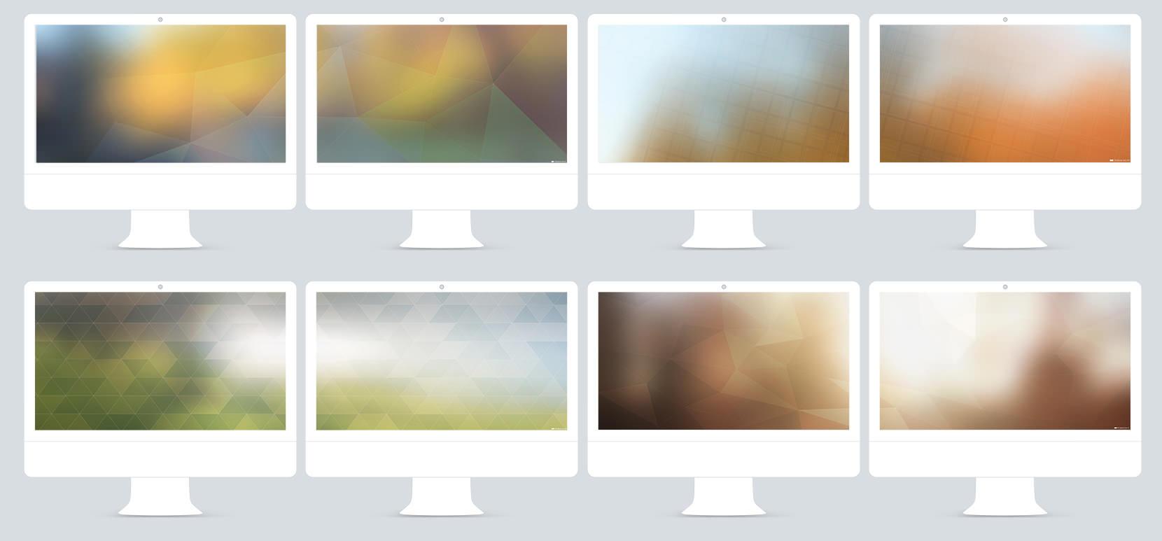 Fonds d'écrans abstraits pour deux écrans