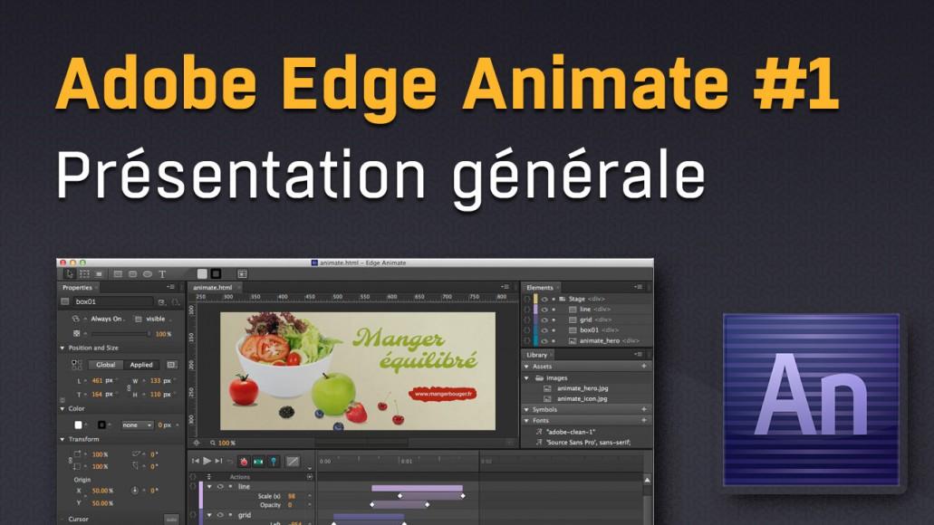 Présentation et prise en main d'Adobe Edge Animate