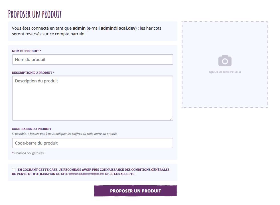 Version du formulaire après stylisation CSS et ajout de quelques nouveaux champs