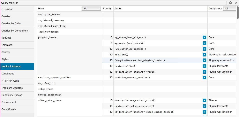 Identifier les fonctions appelées par certains hooks WordPress 2