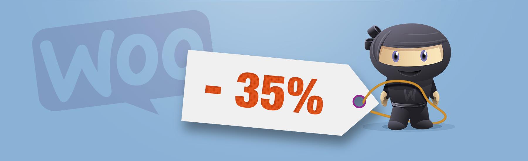 Afficher en pourcents les réductions d'un produit en promotion dans WooCommerce