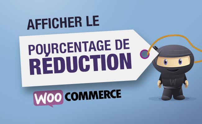 Afficher percentage d'un produit WooCommerce en promotion