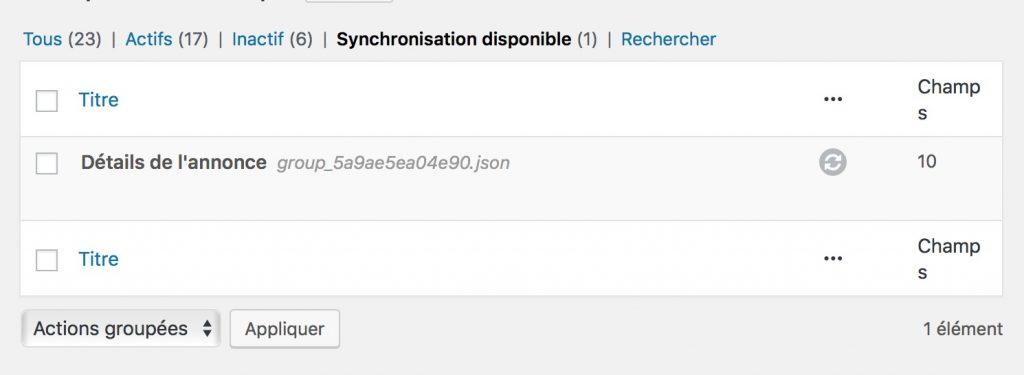 Dév WordPress et ACF : synchroniser des groupes de champs grâce aux fichiers JSON