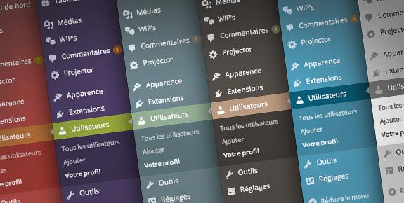 Ajouter des palettes de couleurs à l'admin WordPress