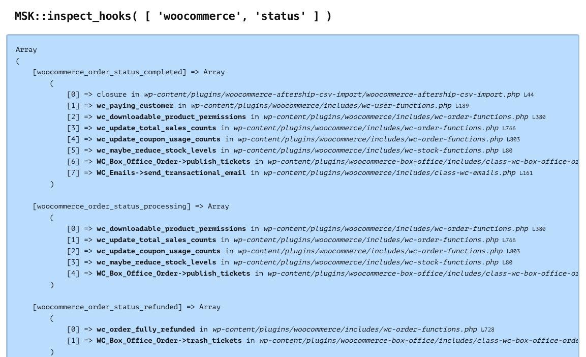 Identifier les fonctions appelées par certains hooks WordPress 3