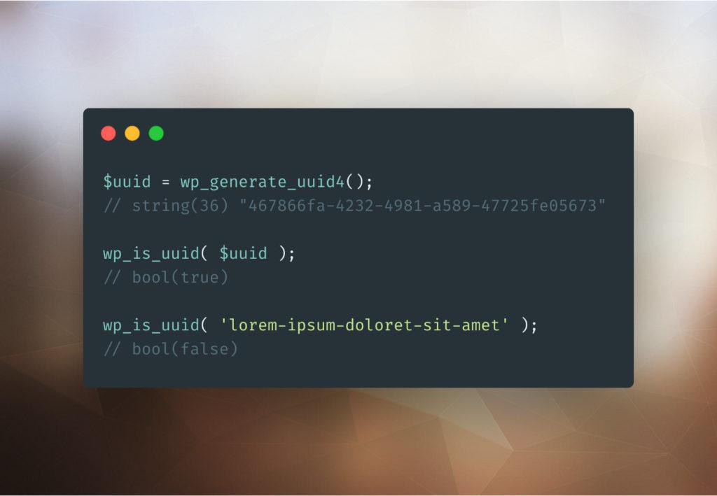 Générer un UUID version 4 en PHP avec WordPress 1